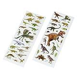 cama24com Dinosaurier Dino Gel-Sticker Aufkleber 40 Stück Mitgebsel Gastgeschenke mit Palandi Sticker