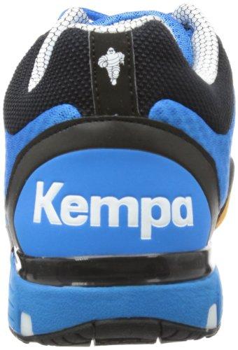 Kempa Typhoon Midcut 200847101 Unisex-Erwachsene Handballschuhe Blau (kempablau/schwarz/rot kempablau/schwarz/rot)
