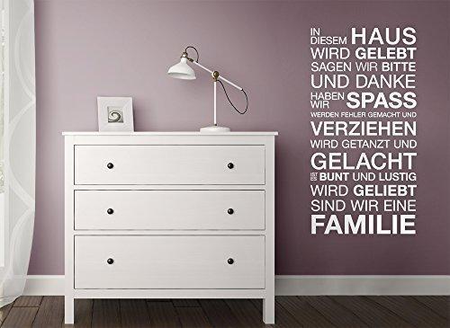 Grandora W943A Wandtattoo Spruch In diesem Haus wird... gold (BxH) 58 x 113 cm
