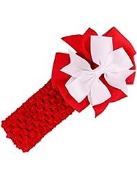 Stirnbaender - SODIAL(R)Stirnbaender Bowknot Haar Accessoires Maedchen Kleinkind Haarband (rot)