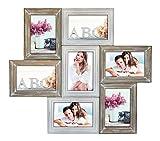Idealtrend Chablis Holz Bilderrahmen für 7 Bilder 10x15 13x18 Foto Rahmen Galerie Collage: Format: 7 x 10x15