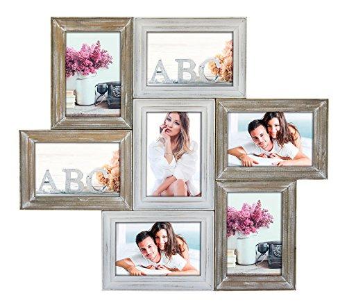 Idealtrend Chablis Holz Bilderrahmen für 7 Bilder 10x15 13x18 Foto Rahmen Galerie Collage: Format: 7 x 13x18 - 10 13 Von Foto-bild