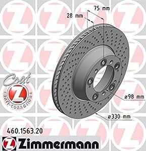 Zimmermann 460,1563,20 Disque de Frein Arrière Droit Perforated Z Coat