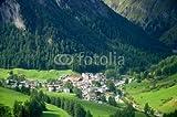 Leinwand-Bild 90 x 60 cm: 'Samnaun - Alpen - Schweiz', Bild auf Leinwand