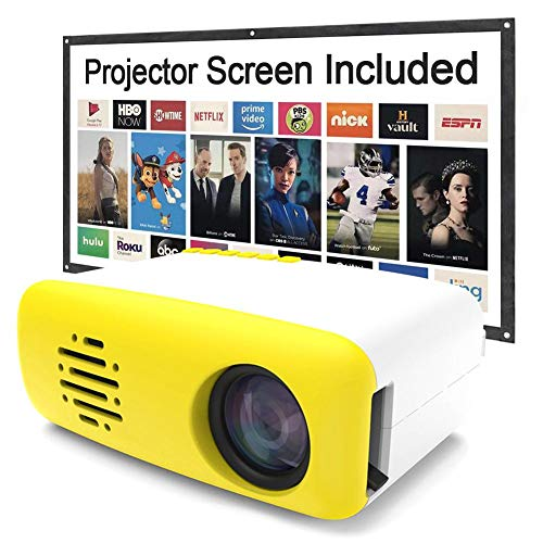 jinclonder LED Mini-Videoprojektor tragbar, Heimkino-Unterhaltung, Video-TV-Film, Party-Spiel, Outdoor-Unterhaltung, LCD-Handy HDMI USB-Schnittstelle Projektor HD