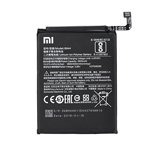 Batería Original Xiaomi BN44 para Xiaomi RedMi Note 5/Xiaomi RedMi Note 5 Plus - 3900 mAh con Carga Rapida 2.0 - Sin Caja
