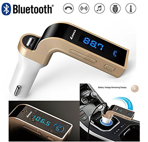 f774bd1ad Kartik Car g7 LCD Bluetooth Car Charger Fast Charger for Car FM Kit MP3  Transmitter USB