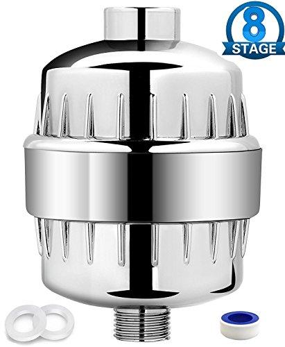 Wasser-filtration-fluorid (Universal Duschfilter 8 Stufen Wasserfilter weicher mit Teflonband Arbeiten mit Duschkopf fürc Entfernung Chlor Schwermetalle Fluorid Schwefelgeruch und schädlichen Verunreinigungen)