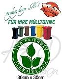 Recycling Design No.1 - ***Mülltonnenaufkleber/ Sticker/ Tattoo*** frei wählbare Wunschfolienfarbe!