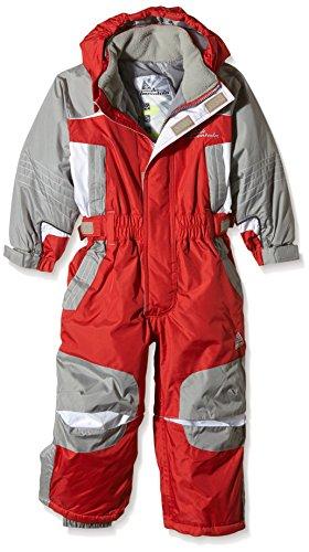 Peak Mountain Eplanx Combinaison de ski Garçon Rouge FR : 5 ans (Taille Fabricant : 5)