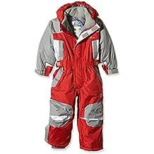 Peak Mountain Eplanx - Traje de esquí para niño, traje, color rojo, tamaño 8 años