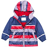 G-Kids Kinder Jungen Wasserdichte Jacke Windbreaker Regenjacke Regenmantel Herbst-Frühling Warm Fleece Softshelljacke mit Kapuze (110/116)