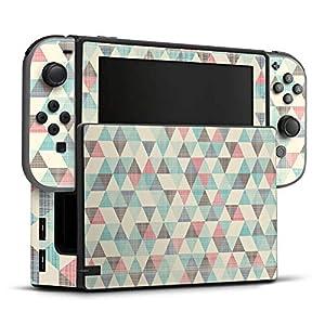 Skin Aufkleber Sticker Folie für Nintendo Switch Dreiecke Vintage Pattern Muster