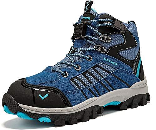 Scarpe da Escursionismo Stivali da Neve Scarpe da Trekking Unisex - Bambini (3 Blu,35 EU)