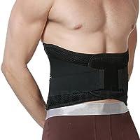 Apoyo lumbar con fuertes tirantes de doble banda, Faja para la Cintura / Espalda / Zona lumbar - Marca NEOtech Care ( TM ) - Color Negro - Talla L