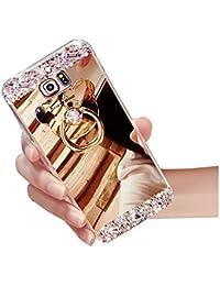 sycode Galaxy A52017espejo caso, Galaxy A52017espejo funda Style, Lujo TPU suave TPU Bumper Carcasa de silicona Handy Cover Reflecting protectora antigolpes Carcasa Espejo, tecnología, Placa carcasa para Samsung Galaxy A52017-gold