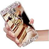 sycode Galaxy J52016espejo caso, Galaxy J52016espejo funda Style, Lujo TPU suave TPU Bumper Carcasa de silicona Handy Cover Reflecting protectora antigolpes Carcasa Espejo, tecnología, Placa carcasa para Samsung Galaxy J52016-gold