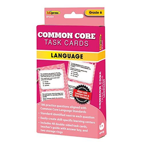 Common Core Math Task Cards Grade 6 Common Core Grade Sechs