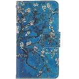 Sony Xperia E1 Funda (4,0 pulgadas) Flip Cuero Case Wallet Caso PU piel Cierre Magnético con Ranuras para Tarjeta de Crédito Patrón multicolor