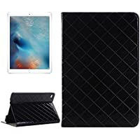 Tavoletta Custodie & Cover, Custodia in pelle luminosa griglia di struttura della pelle Ribaltamento orizzontale con il supporto di carta &Slots e portafoglio per iPad Pro 12,9 pollici ( Colore : Nero )