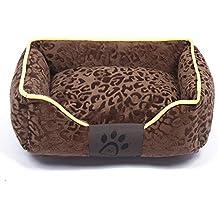 WWSSXX Camas para Mascotas Cálido Invierno Manta Impresión De La Pata Algodón Coral Fleece Camas Suaves
