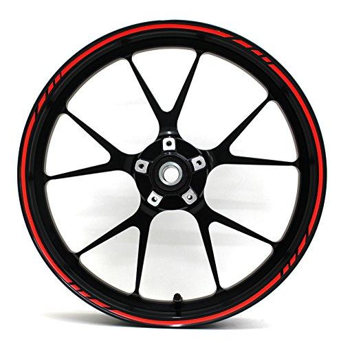 'adesivi per cerchioni GP di design 16pezzi set completo-finest Folia adatto per 17pollici & 16' 18' 19Cerchioni Moto Auto Bicicletta