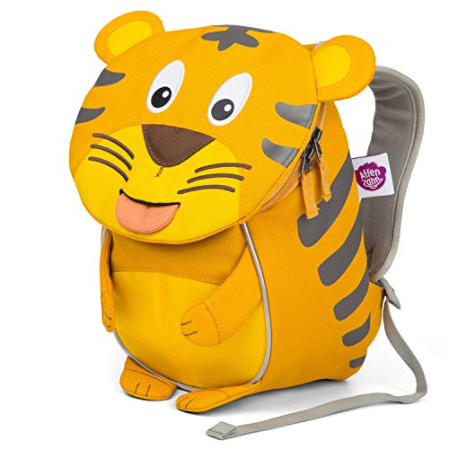 Affenzahn Small Friend Timmy Tiger Yellow Kinder-Rucksack, 25 cm, 4L, Yellow -