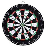 TechSmile - Bersaglio per Freccette, 46 cm, con 12 Freccette
