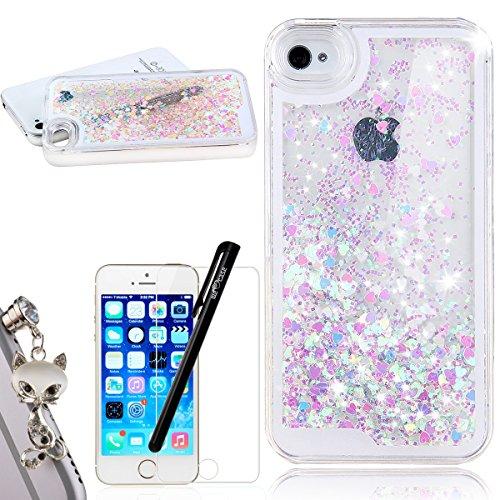 iphone-se-coque-glitter-paillettes-amour-bonbons-etui-we-love-case-cristal-liquide-etoiles-etui-pour