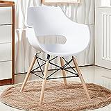 Bentley Home Stuhl, Polypropylen und aus Buchenholz, weiß, 60x 62x 80cm