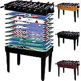 Maxstore Table de Jeu multigame \Mega\ 15 en 1, Contient Tous Les Accessoires Dont Vous Avez Besoin