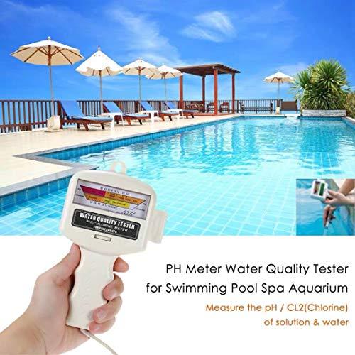 Cioler Profi Chlortester Pooltester Chlor/pH Wasserqualitätstest PH Chlor, Pool Wasser PH Tester, PH Meter,Chlormessgerät Messgerät für Schwimmbad,Trinkwasser,Aquarium