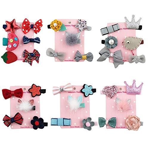 32 stücke Mädchen Bowknot Blume Haarspange für Kleine Mädchen, Prinzessin Baby Boutique...