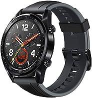 ساعة جي تي من هواوي FTN-B19 بسوَّار مطاطي رياضي، باللون الأسود.