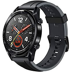 Huawei Watch GT GPS Running Watch with Heart Rate Monitoring and Smart Notifications (Up to 2 weeks Battery Life) – Black