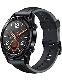 Huawei Watch GT Sport Smartwatch 3,53 cm (1,39 Zoll) Amoled Touchscreen, GPS, Fitness Tracker, Herzfrequenzmessung, 5 ATM wasserdicht, graphite