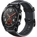 """Huawei Watch GT Orologio con Autonomia della Batteria fino a 2 Settimane, Impermeabile 5 ATM, GPS, TruSeen 3.0 Monitoraggio della Frequenza Cardiaca, Smartwatch, 1.39"""" Touchscreen, Nero"""