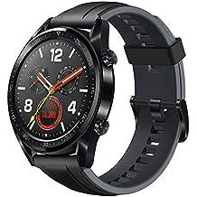 """Huawei Watch GT Smartwatch, Display Touch 1.39"""" AMOLED, Fitness Tracker con GPS, Rilevazione Battito Cardiaco, Resistente all'Acqua 5 ATM, Nero"""