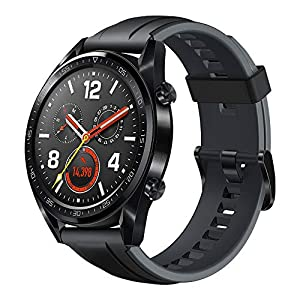 Huawei Herren GT Smartwatch 3,53 cm (1,39 Zoll) Amoled Touchscreen, GPS, Fitness Tracker, Herzfrequenzmessung, 5 ATM wasserdicht