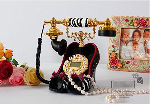 YMKUY@,Continental retro antike Telefone, Festnetz-Mode kreative niedlichen Fersen (Europäische Ferse)