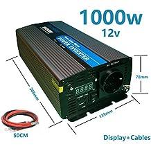 Inversor onda pura 1000W pico 2000w 12v a 220v con Display