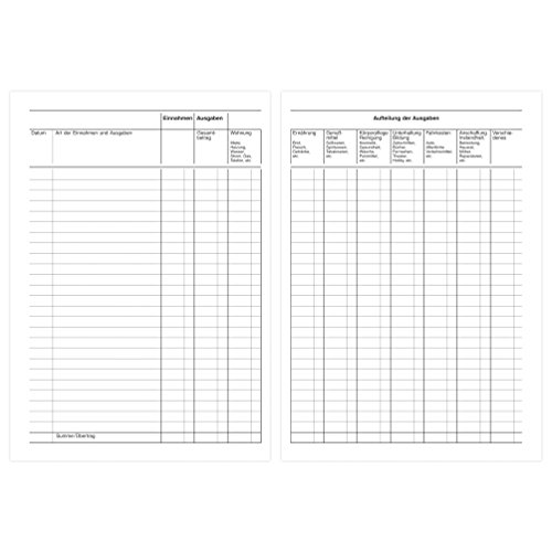 Forma Herlitz libro Presupuesto libro, A5, 40 hojas