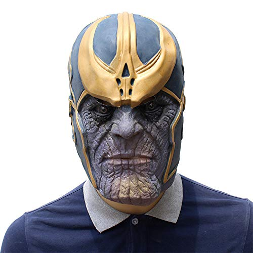 AKCHIUY Als Latex Maske, Avengers Infinity War Superheld Maske Latex Vollkopf Masken Halloween Cosplay Party Requisiten Erwachsene,Unisex-OneSize