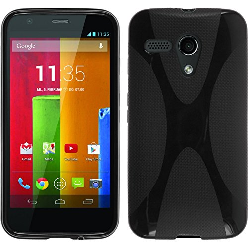 Foto PhoneNatic Custodia Silicone per Motorola Moto G - x-Style Nero - Cover protettive
