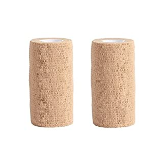 Cohesive Bandage – 2 Rolls x 10cm x 4.5m First Aid Pet Vet Wrap Bandages (skin color) 51IK4Cwk5FL