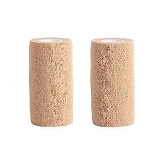 Cohesive Bandage - 2 Rolls x 10cm x 4.5m First Aid Pet Vet Wrap Bandages (skin color) 7