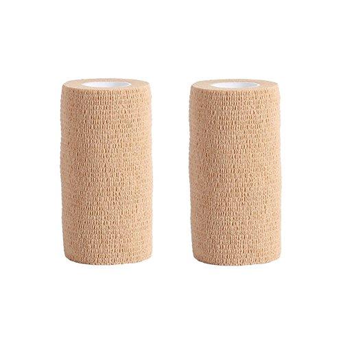 Haftbandage/Selbsthaftende Bandage–2Rollen x 10cm x 4,5m Erste Hilfe für Haustiere, kohäsiver Verband