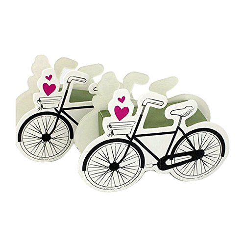Süßigkeiten Geschenk-Boxen Baby-Dusche begünstigt Hochzeit Gunst Fahrrad Form Packung von 50 (Baby Dusche Süßigkeiten Formen)