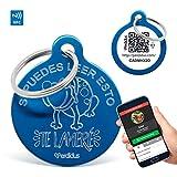 Perdidus 'Namensschilder für Hunde Wenn Sie dies lesen Sie lameré mit NFC und QR, 32mm, Unisex