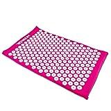 Grinscard - Akupressurmatte für Behandlung von Schmerzen & Verspannungen Akupressur- und Massagematte - 66 x 41 x 3 cm - pink